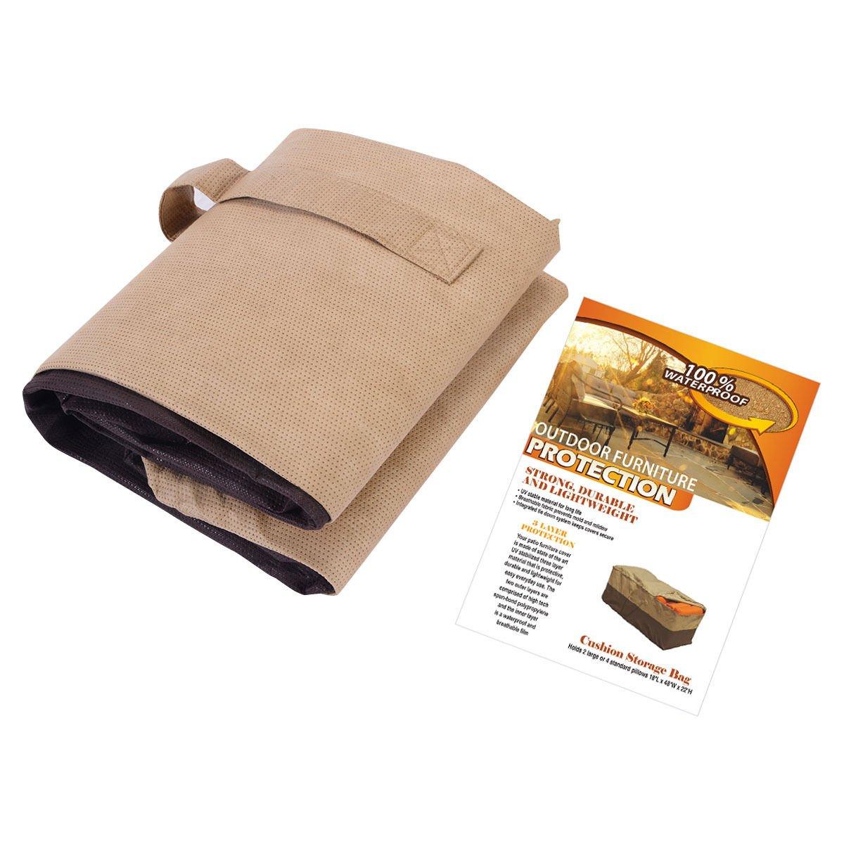 Amazon.com : New Outdoor Cushion Storage Bag Patio Furniture Chaise  Organizer Protector Cover : Garden U0026 Outdoor