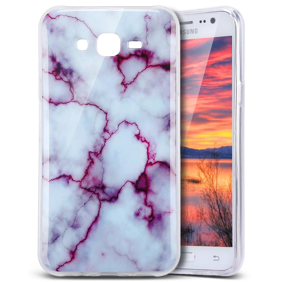 人気新品 PHEZEN IMD TPU Galaxy J7 Case 白色マーブルパターン (2015)対応 IMD B01N1SM6O5 デザイン 可愛い クリエイティブ 傷防止 バンパー 超薄型 TPU ソフトケース ゴム シリコーン スキンカバー サムスン Galaxy J7 J700 (2015)対応 PHEZEN00918 Marble Purple B01N1SM6O5, ベッド&マットレス:93b27e35 --- ciadaterra.com