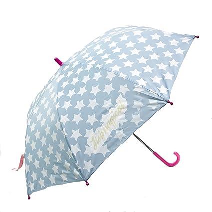 itsImagical Stop-Rain White Star - Paraguas infantil anti pellizcos, unisex