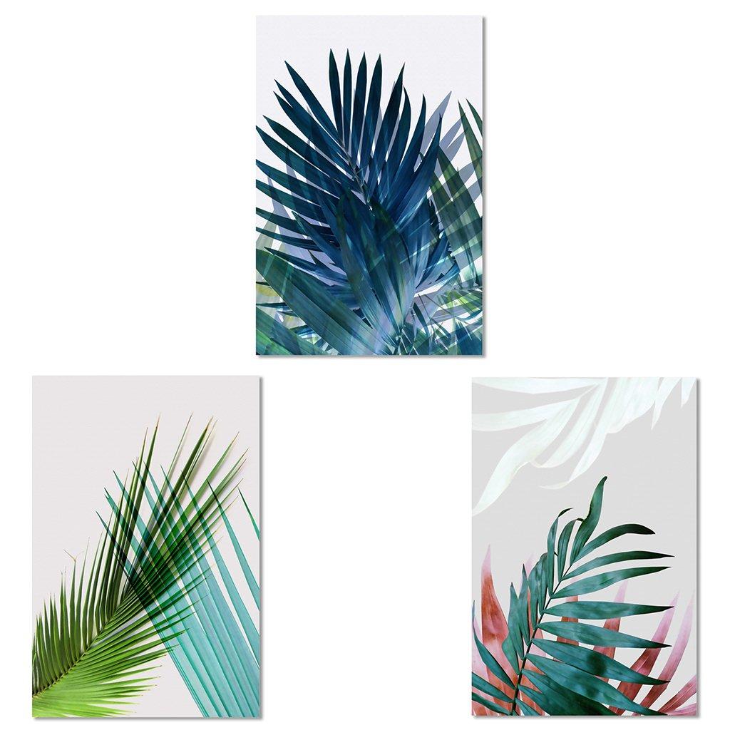 Hergon DIY Peinture sur toile, 3 ensembles de peinture à l'huile - 30x45CM le dessin avec pinceaux Peinture Convient pour tous les niveaux, Home Decoration #21