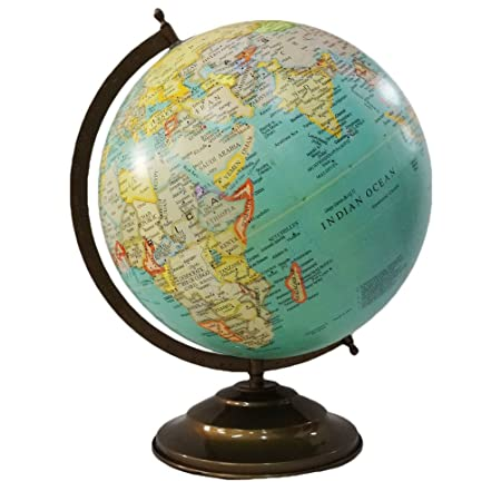 World map globe handcrafted 12 large plastic ball 16 iron tall world map globe handcrafted 12 large plastic ball 16 iron tall standing material green gumiabroncs Images