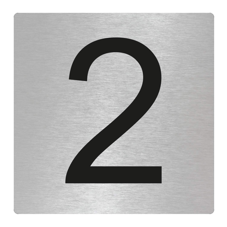 OFFORM I Door Number I Stainless Steel I'2' I 85x85 mm I Nr.48302