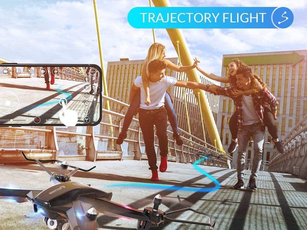 SNAPTAIN S5C WiFi FPV Drone  Review about Trajectory mode where you can design your flying path