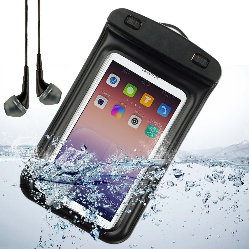 huawei ascend p7. amazon.com: black waterproof pouch bag for huawei ascend p7 / p6 d2 g6 and other huawei smartphone + vangoddy headphone with mic ,black: