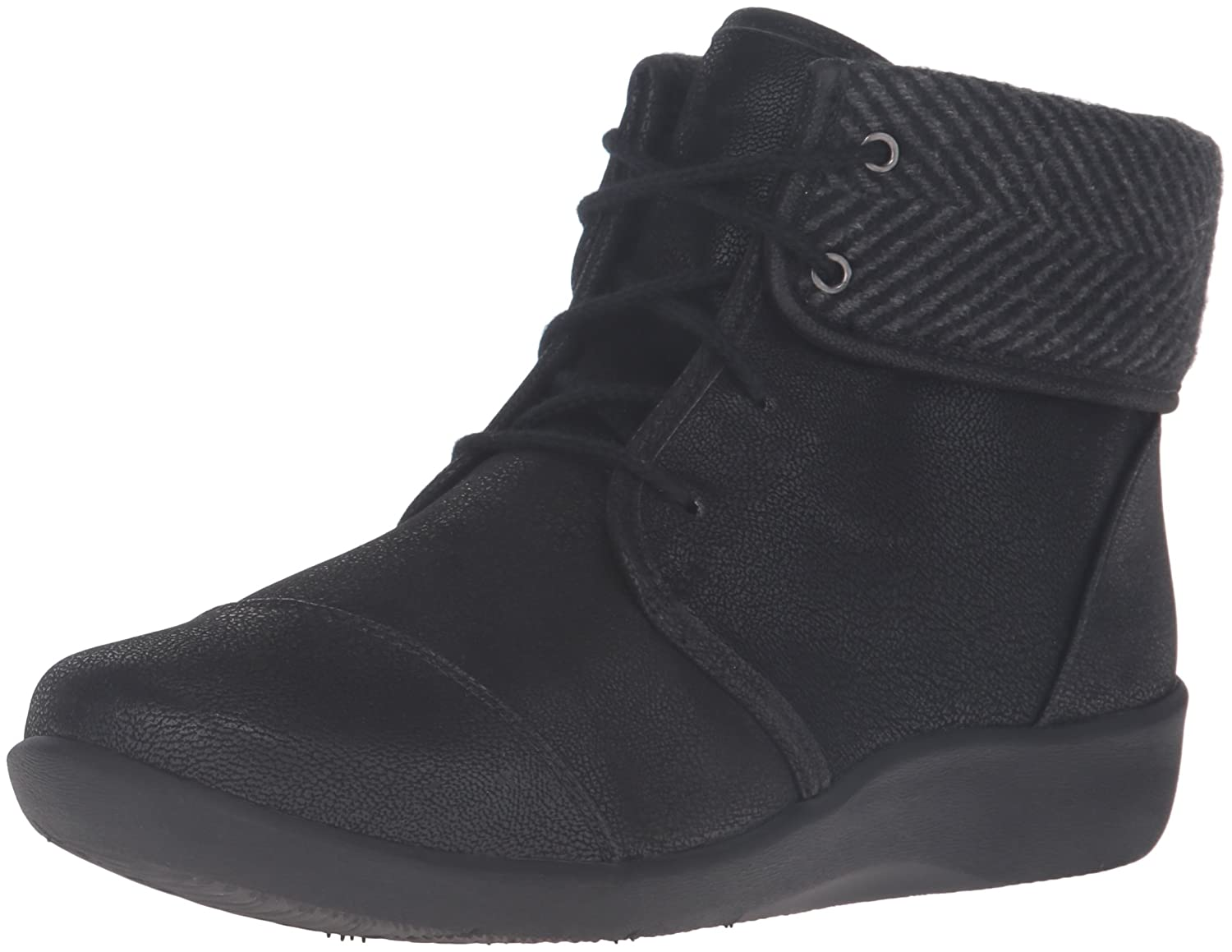 CLARKS Women's Sillian Frey Boot B01BLUI9UK 9 A - Narrow|Black Synthetic Nubuck