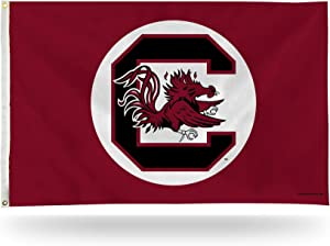 NCAA Rico Industries 3-Foot by 5-Foot Single Sided Banner Flag with Grommets, South Carolina Fighting Gamecocks