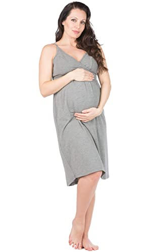 Fishers Finery Womens Ecofabric Wireless Sleeveless Maternity Nursing Nightgown