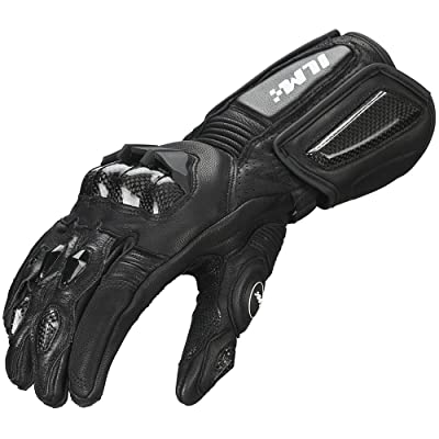 ILM Air Flow Leather Motorcycle Gloves For Men and Women (M, BLACK-LONG): Automotive