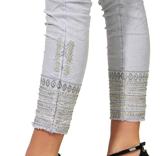 Mozzaar Pantalones Vaqueros Chino Baggy Pantalón de Mujer ...