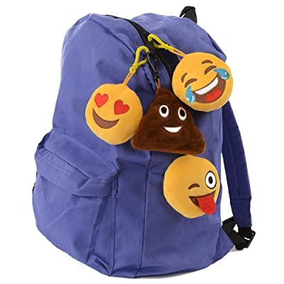 Emoji Universe: Talking Emoji Backpack Clips, Keychains; Plush Keychain Makes FUNNY SOUNDS! (4-Pack): Office Products