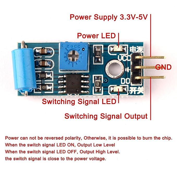 Ecloud Shop Módulo del sensor de movimiento SW-420 para Arduino EK125: Amazon.es: Electrónica