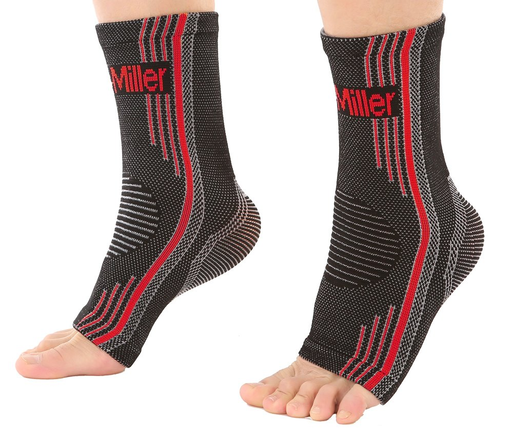 b582b3da3f Doc Miller Premium Ankle Brace Compression Support Sleeve Socks for Swollen  Foot Plantar Fasciitis Achilles Tendonitis, ...