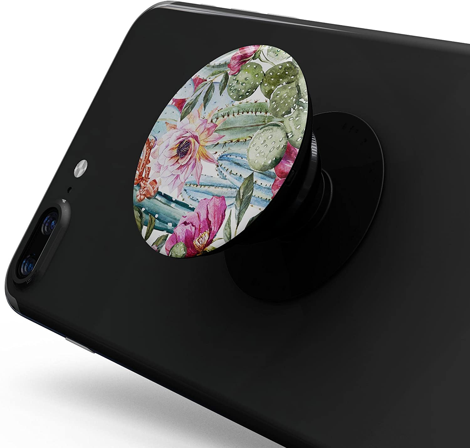 DesignSkinz Premium Decal Sticker Skin-Kit for PopSockets Smartphone Extendable Grip /& Stand Vintage Watercolor Cactus Bloom