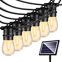Solar String Lights Outdoor - Shatterproof Vintage Edison Bulbs & 4 Light Mode Weatherproof 27FT Strand -LED String…