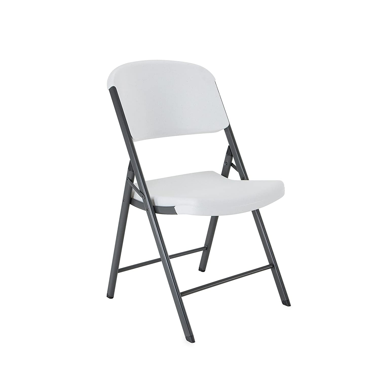 Amazon Lifetime Folding Chair White Granite Pack of 4