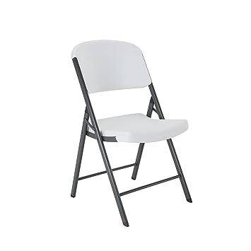 Lifetime 42804 Folding Chair, White Granite, Pack Of 4