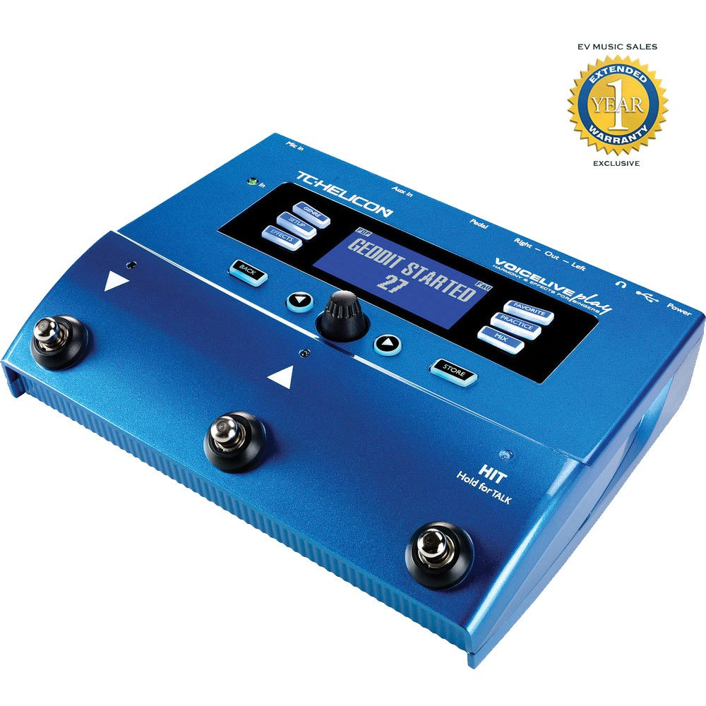 TC-Helicon VoiceLive Play Multi-Effects Vocal Processor with 1 Year Free Extended Warranty