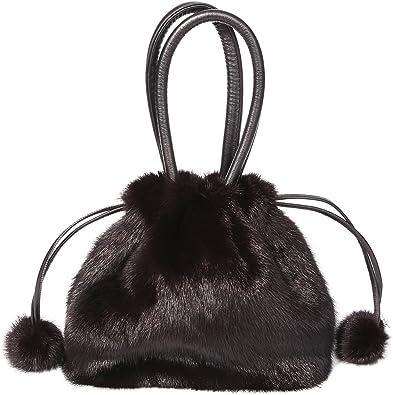 Real Mink Fur Bag Ladies Handbag Womens Shoulder Crossbody Bag Tote Purse