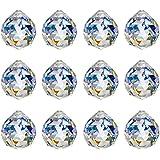 KARSLORA 40mm Clear Glass Crystal Ball Prism Rainbow Maker FengShui Lamp Hanging Drop Chandelier Pendant Window…