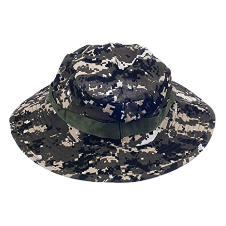 e0623c5918dab Buy Imported Mens Camo Military Boonie Cap Sun Bucket Brim Army Fishing  Hiking Hat  2 Online at Low Prices in India - Amazon.in