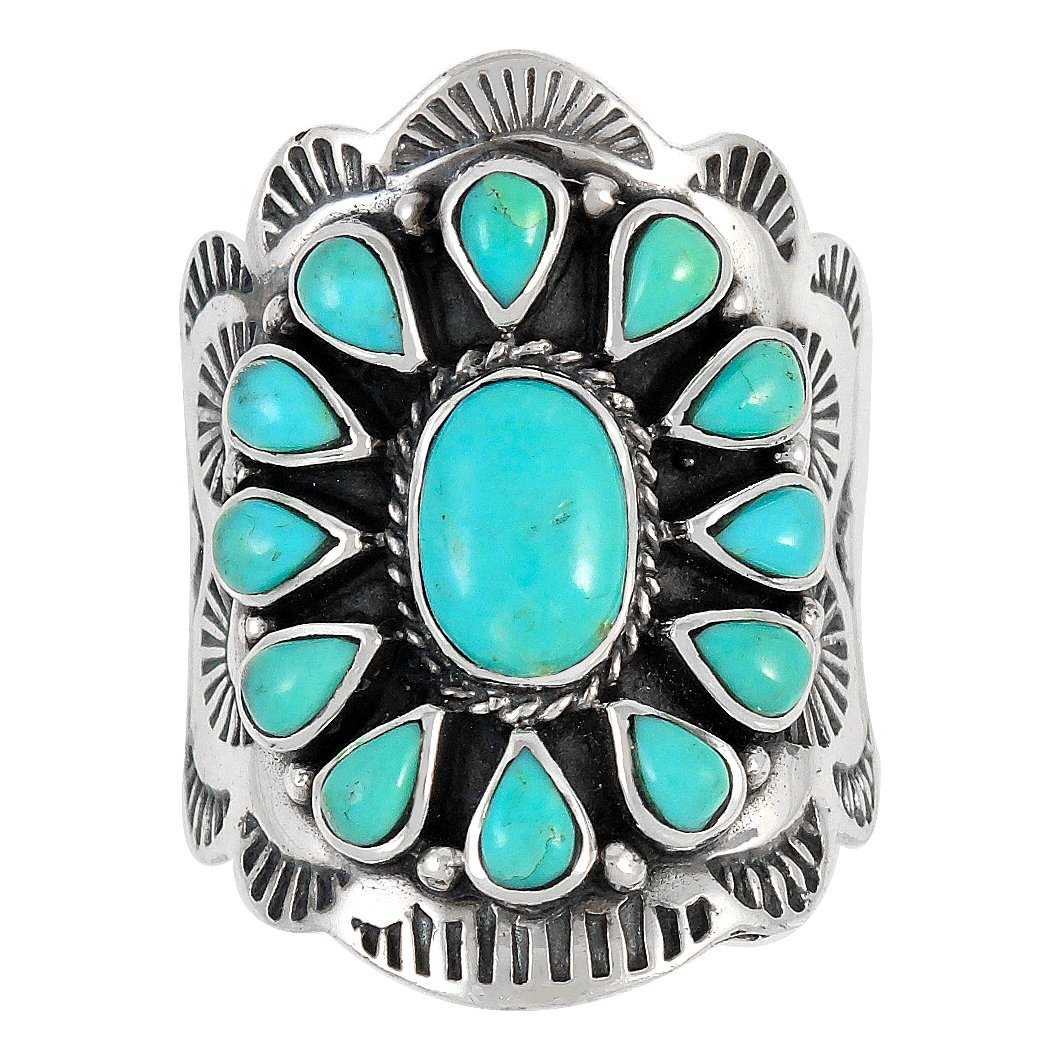 Sterling Silver Genuine Gemstones & Turquoise (SELECT color) (Turquoise, 10) by Turquoise Network (Image #3)