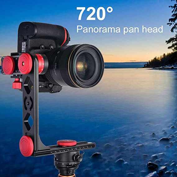 MENGS PH-720B 720/° Panoramic Fluid Head Aluminum Alloy for DSLR Camera Compatible with Arca-Swiss Standard