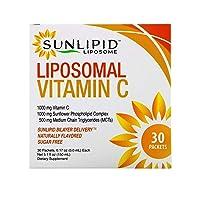 SunLipid Liposomal Vitamin C, Naturally Flavored, 30 Packets, 0.17 oz (5.0 ml) Each