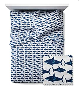 Pillowfort New Great White Get-Together Sheet Set Twin
