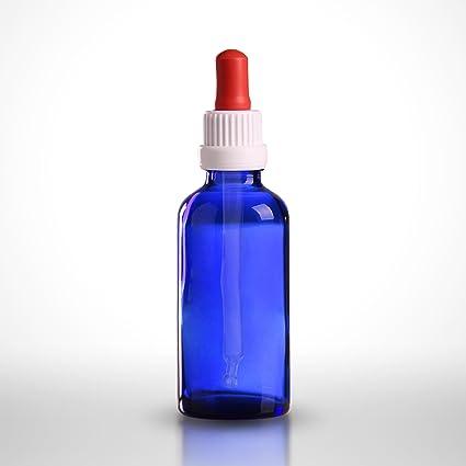 50 x pipetas botellas 50 ml (azul cristal) incluye pipetas con manosear-cierre