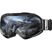 Premium kayak gözlüğü, Outdoormaster Snowboard gözlüğü kar gözlüğü% 100 OTG UV-koruma için çerçeve Anti-Sis…