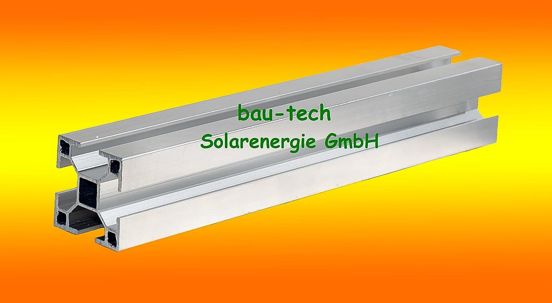 31 Meter Montageprofil 40 x 40mm von bau-tech Solarenergie