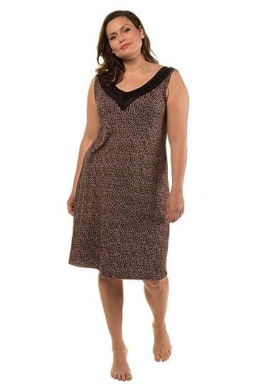 067cd3d6e6a Ulla Popken Women s Plus Size Lace Back Leopard Nightgown 719059  Ulla  Popken  Amazon.co.uk  Clothing