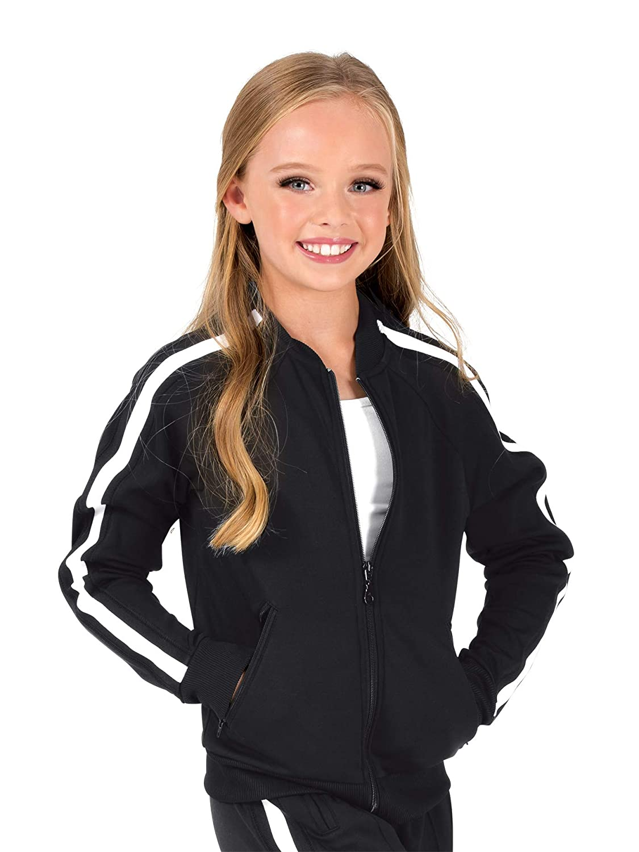 Dance Department Girls Team Zip Up Long Sleeve Striped Jacket D3046C