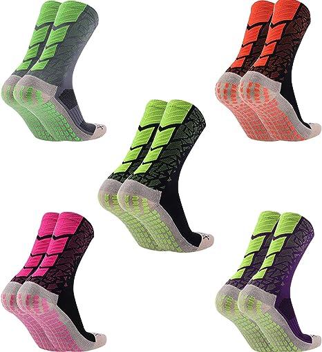 Manbozix Calcetines de Los Hombres Calcetines de Fútbol Calcetines Deportivos Antideslizantes Calcetines Transpirables Calcetines de Entrenamiento para Adultos 38-44: Amazon.es: Deportes y aire libre