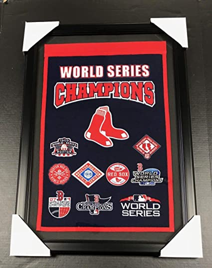 ec78c8ffece Image Unavailable. Image not available for. Color  BOSTON RED SOX 9X WORLD  SERIES CHAMPIONS FRAMED WOOL BANNER WINNING STREAK