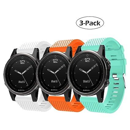 Amazon.com: Garmin Fenix 5s banda de reloj, de liberación ...