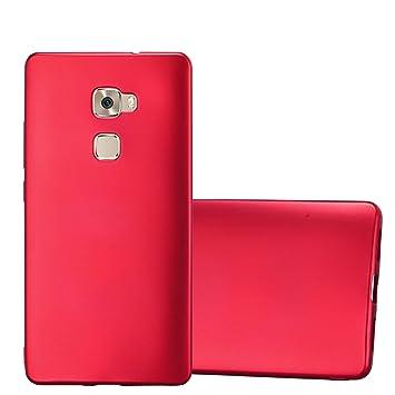 Cadorabo Funda para Huawei Mate S en Metallic Rojo – Cubierta Proteccíon de Silicona TPU Delgada e Flexible con Antichoque – Gel Case Cover Carcasa ...