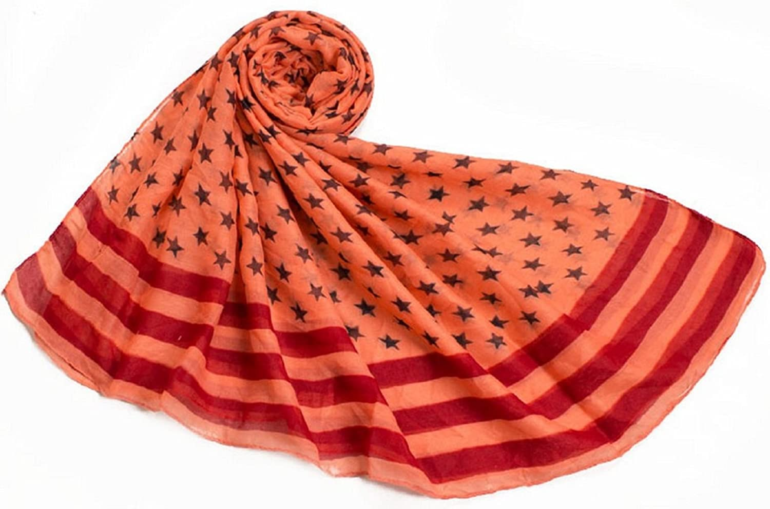 Bettyhome Fashion Girls Multicolor Star Pattern Voile Women's Large Beach Scarf Shawl Lightweight