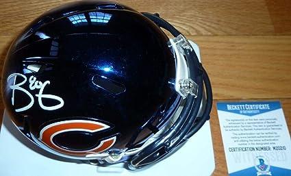 bf99ef32 Trey Burton Signed Mini Helmet - Beckett bas Chrome 0210 - Beckett  Authentication - Autographed NFL