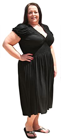 Petite Peasant Plus Size Dress by BBW Boutique at Amazon Women\'s ...
