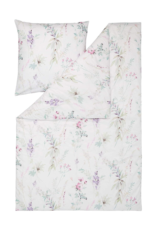 Estella Mako Batist Bettwäsche Lobos in lavendel 155x220 + 80 x 80 cm