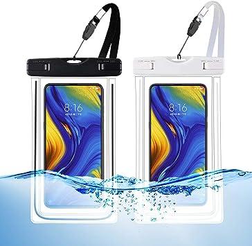 WUXINGMEILI Funda Impermeable Móvil Universal, IPX8 Estanca Agua Playa Bolsa Impermeables Movil Fundas Sumergible para iPhone BQ Aquaris Huawei Samsung y Moviles hasta 6.5