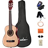 ADM Beginner Acoustic Classical Guitar 30 Inch Nylon Strings Wooden Guitar Bundle Kit for Kids Students with Carrying Bag & A