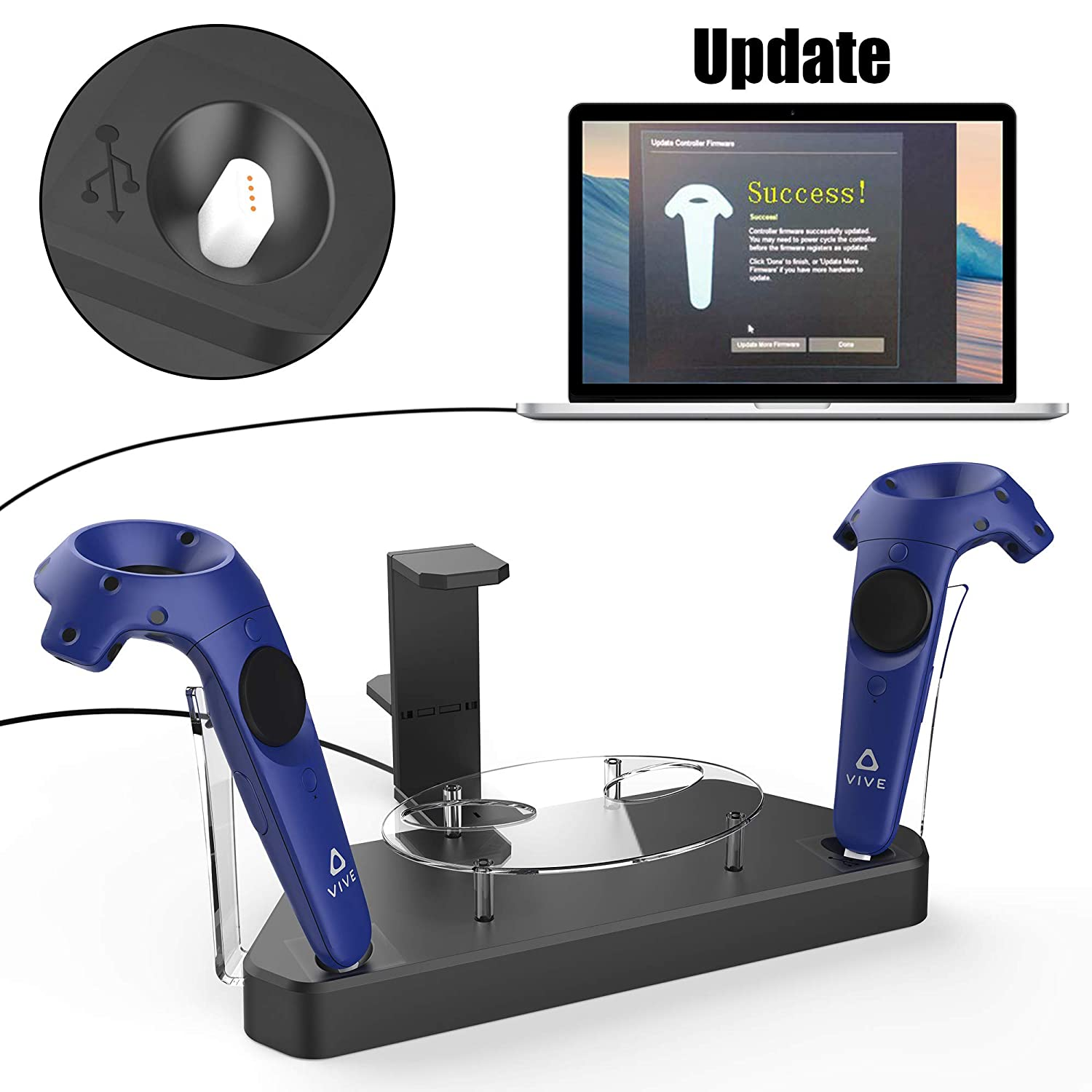 AFAITH VR Magnetic Charging Stand Station for HTC Vive & Pro ...