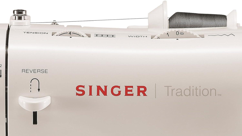 Kunststoff Druckguss Wei/ß 35/x 12/x 25/cm Singer Tradition 2282/F/ür N/ähmaschine