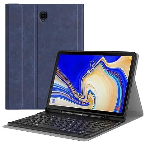 """MoKo Funda para Samsung Galaxy Tab S4 10.5"""" Teclado, Cubierta con Soporte para Stylus"""