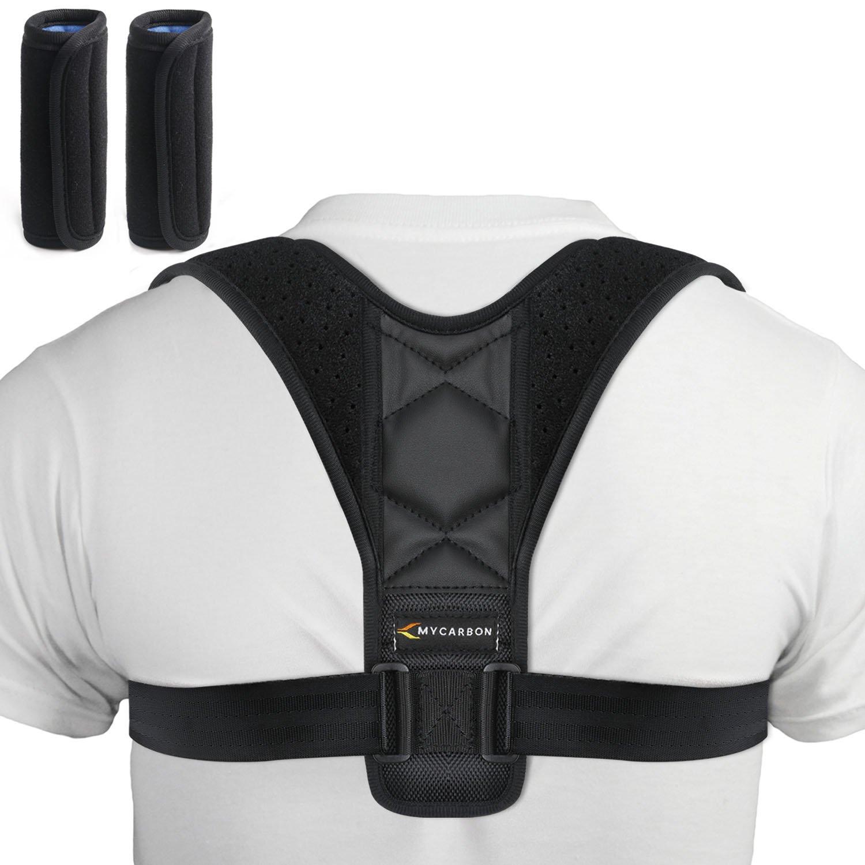 MYCARBON Posture Corrector for Women Men with 27''-40'' Chest, Adjustable Posture Corrector Brace, Effective Back Brace, Comfortable Clavicle Support Brace, Soft Shoulder Brace Posture Support for Back