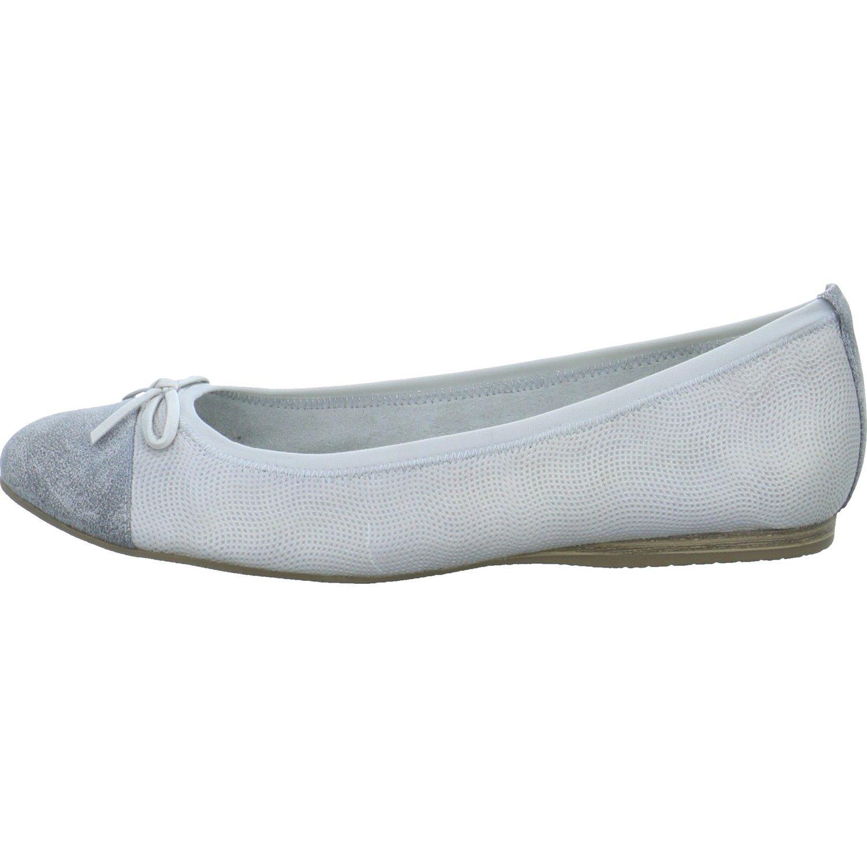 Tamaris Damen 22129 Geschlossene Geschlossene 22129 Ballerinas Grau 9d38a6