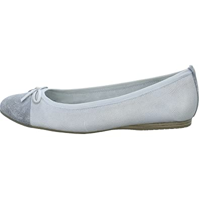Tamaris Damen Ballerinas 1 1 22129 20 1 1 22129 20 grau 400274