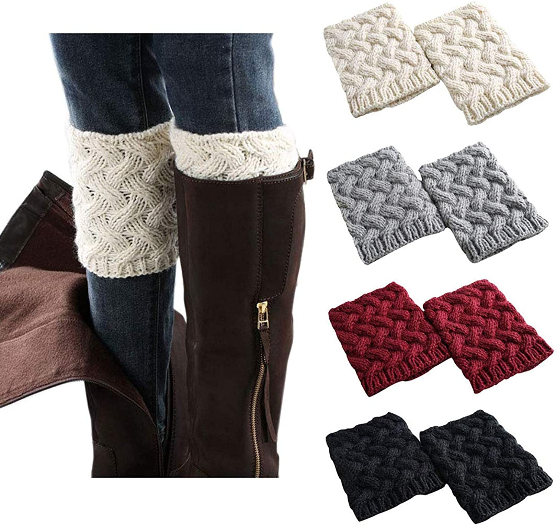 Women Boot Cuffs - Winter Knitted Boots